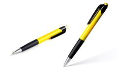 Vertical isolated pen Royalty Free Stock Photo