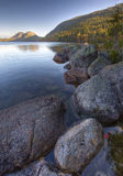 Vertical of Jordon Pond in Acadia National Park Royalty Free Stock Photo