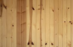 Vertical Knotty Pine Boards Royalty Free Stock Photos