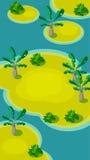 Vertical Krajobrazowa ilustracja, wyspy z palmą ilustracja wektor