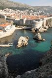 Vertical landscape with Dubrovnik, Croatia. By the shores of the Mediterranean Sea Stock Photo