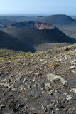 Vertical landscape for Lanzarote crater Stock Image