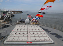 Vertical Launching System for Tomahawk missiles on Ticonderoga-class cruiser Stock Image