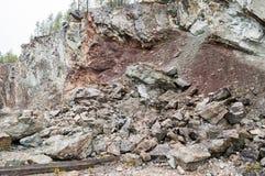 Vertical layered limestone Stock Photography