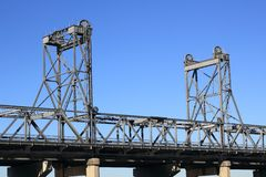 Vertical lift bridge  Royalty Free Stock Photos