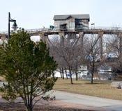 Vertical Lift Bridge Royalty Free Stock Photos