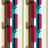 Vertical line pattern. Including seamless sample in swatch panel Royalty Free Stock Photo