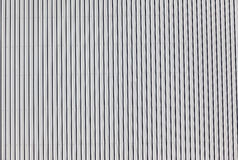 Metal Sheeting Lines. Picture of a section of the design and detail in the steel metal sheeting Royalty Free Stock Photos