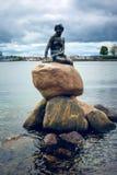 Vertical little Mermaid, Copenhagen, Denmark royalty free stock image