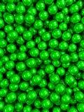 Vertical lustroso verde das bolas Fotos de Stock