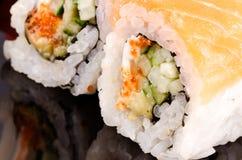 Vertical macra del sushi Foto de archivo