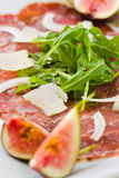 Vertical macro carpaccio Stock Photos