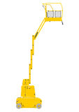Vertical mast lift. Royalty Free Stock Photos