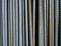 Vertical metalic rods. Background texture of metalic rods Stock Images