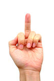 Vertical middle finger Stock Images
