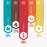 Vertical Modern Infographic Template Royalty Free Stock Photography