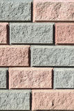 Vertical mosaic of decorative bricks Stock Photos