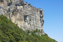 Vertical mountain . Rock climbing the steep cliffs of the mountains . Vertical mountain . Rock climbing the steep cliffs of the mountains Stock Images