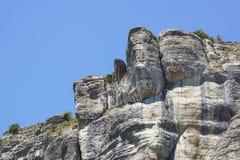 Vertical mountain . Rock climbing the steep cliffs of the mountains . Vertical mountain . Rock climbing the steep cliffs of the mountains Stock Photo