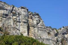Vertical mountain . Rock climbing the steep cliffs of the mountains . Vertical mountain . Rock climbing the steep cliffs of the mountains Stock Photography