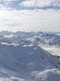 Vertical mountain winter landscape Stock Images