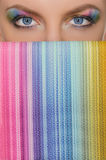 Vertical multicolor picture of the eye and wallet Stock Photos