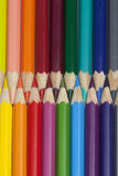 Vertical multicolored pencils Royalty Free Stock Images