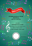 Vertical musical diploma Royalty Free Stock Image