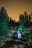 Vertical night sky above the Provo River Falls. Royalty Free Stock Photography