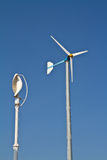Vertical and normal wind turbine Stock Photography
