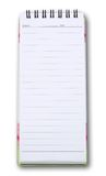 Vertical note book. Isolated white background Stock Image
