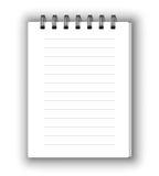 Vertical notebook Stock Photos