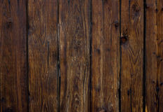 Vertical old dark brown wooden planks background royalty free stock image