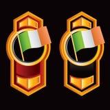 Vertical orange arrows with an irish flag Royalty Free Stock Photo