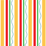 Vertical orange red stripes wavy green pattern Stock Photography