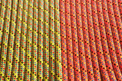 Vertical orange and yellow mountain rope texture Stock Image