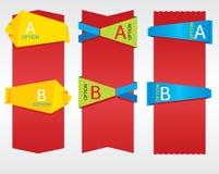 Vertical Origami Banner. Vertical Origami Banner Vector.EPS 10 stock illustration