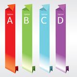Vertical Origami Banners. Royalty Free Stock Image