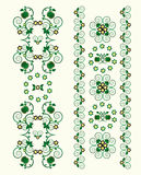 Vertical ornament with flower. And curl Stock Images