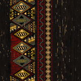 Vertical ornamental seamless pattern. Dark ethnic backdrop stock illustration
