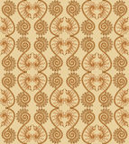 Vertical ornate pattern in pink and brown colors Royalty Free Stock Image