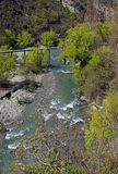 Vertical Panorama of Arrow River, Arrowtown, New Zealand royalty free stock photos
