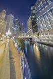 Vertical Panorama of Chicago Stock Photo