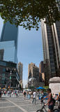 Vertical panorama of Columbus Circle Stock Image