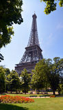 Vertical Panorama of Eiffel Tower, Paris France. royalty free stock photo