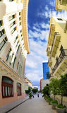 Vertical panorama of havana street, cuba Royalty Free Stock Photos