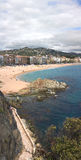 Vertical panorama of Lloret de Mar (Girona, Spain) Royalty Free Stock Images
