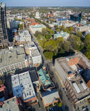 Vertical Panorama Raleigh downtown 3/2016. Royalty Free Stock Images