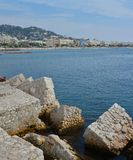 Vertical Panoramic View of Cannes , Cote d`azur, Provence France Stock Image