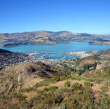 Lyttleton Port Town & Harbour Christchurch, New Zealand. Stock Photo
